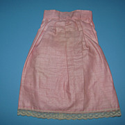 Early Pink Doll Skirt - Nice For Bisque & China Dolls