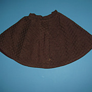 Vintage Brown Doll Skirt - For China & Bisque Dolls