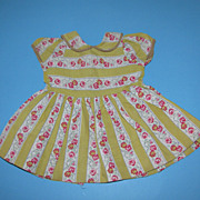 1950's Flower Print Doll Dress - For Hard Plastic Dolls