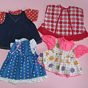 SALE 4 Vintage Factory Doll Dresses