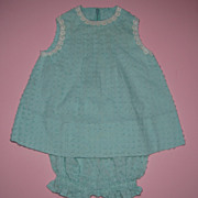 Sweet Aqua Doll Dress & Undies - For Large Doll