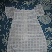 White Pattern Shoulderhead Doll Dress