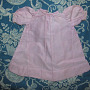 Vintage Pink Doll Dress With Featherstitch Detail