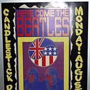 SOLD Original Beatles 1966 Candlestick Park Concert Poster PLUS