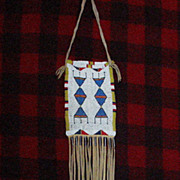 Early 1900s Northern Plains Arapaho Beaded Bag