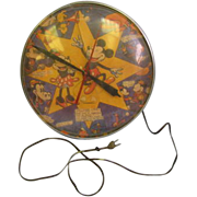 Mickey Mouse and Minnie Mouse 1950's Bubble clock
