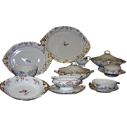 63-Piece WILLIAM GUERIN Limoges Bone China Dinnerware