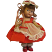 "7 �"" Rare Vintage GINNY 1950 Valentine Girl Painted-Eye"