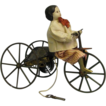 9&quot; x 11 &quot; Goodwin c1870 BOY on TRICYCLE + Key Wind All-Original & Rare