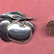 Cini Sterling Apple Pin