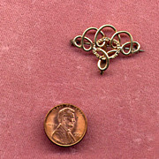 Victorian Gold-Filled &quot;Love-Knot&quot; Fob or Watch Pin