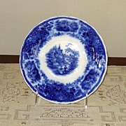 "SALE Large Flow Blue ""Non-Pareil"" Saucer"