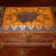 SALE Folk Art Box with Hearts for Mary