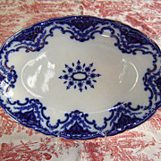 "Meakin English Ironstone Flow Blue ""Cambridge"" Platter"