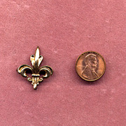 Victorian Gold-Filled Fleur-de-Lis Fob or Watch Pin