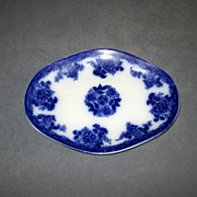 Small Flow Blue &quot;Waldorf&quot; Pottery Platter