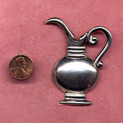 Mexican Sterling Ewer Posy Pin