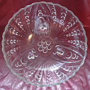 Anchor Hocking Burple Footed Serving Bowl Clear
