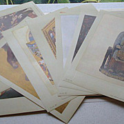 Metropolitan Seminars in Art  Earth, Heaven, and Hell 1959 12 Color Prints