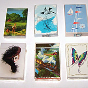 6 Decks Playing Cards, $10 ea.: B&B Redislip (Detlefsen Days to Remember); Western/Whitman 