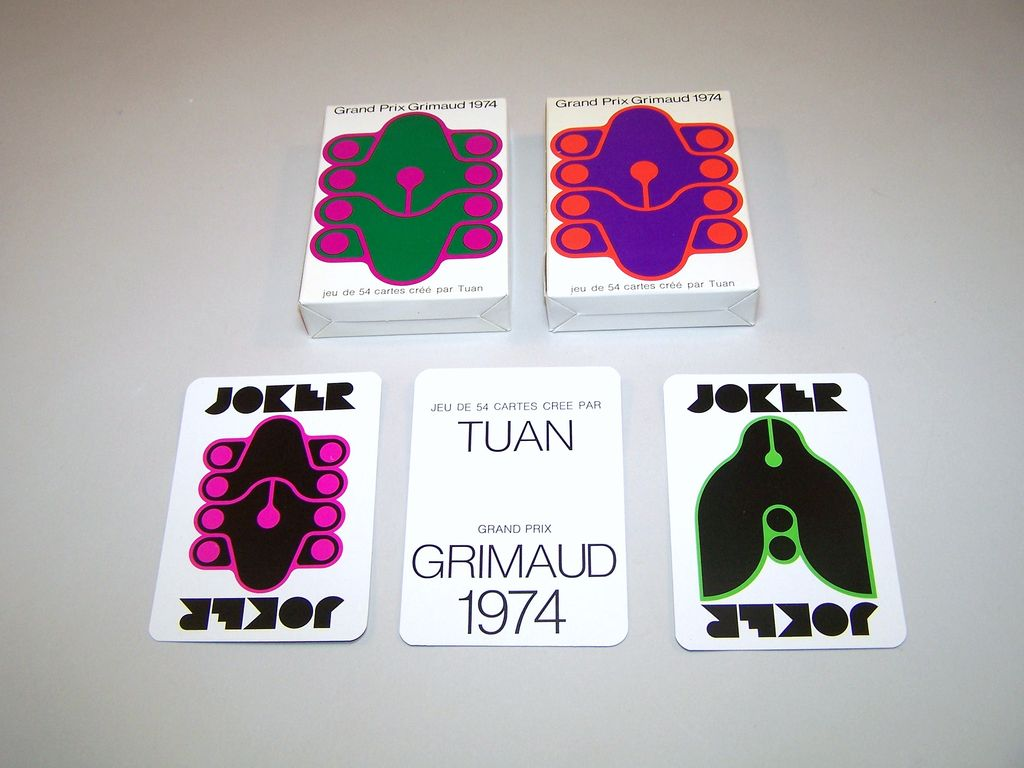 "Twin Decks ""Grand Prix Grimaud 1974"" Playing Cards, Tuan Designs, c.1974"