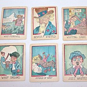 "Russell Mfg. Co. ""Comical Game of Whip"" Card Game, c.1931"