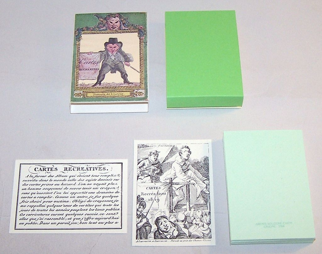 "Arienti / Solleone Facsimile ""Cartes R�cr�atives 1819"" Transformation Cards, Limited Edition (555/800), c.1984 (Based On Guiard Pack c.1819)"