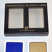 Double Deck F.X. Schmid �Presidential Playing Cards,� Smithsonian Institution, c.1990s