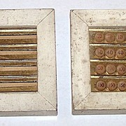 Pair �Double Pinochle� Game Counters, Max Hofheimer Manufacturer and Selling Agent, c.1890