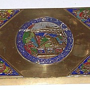 Chinese Cloisonn� Playing Card Box (Two Decks)