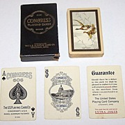 "USPC �Congress 606 Bridge� Playing Cards, ""The Flight"", c.1926"