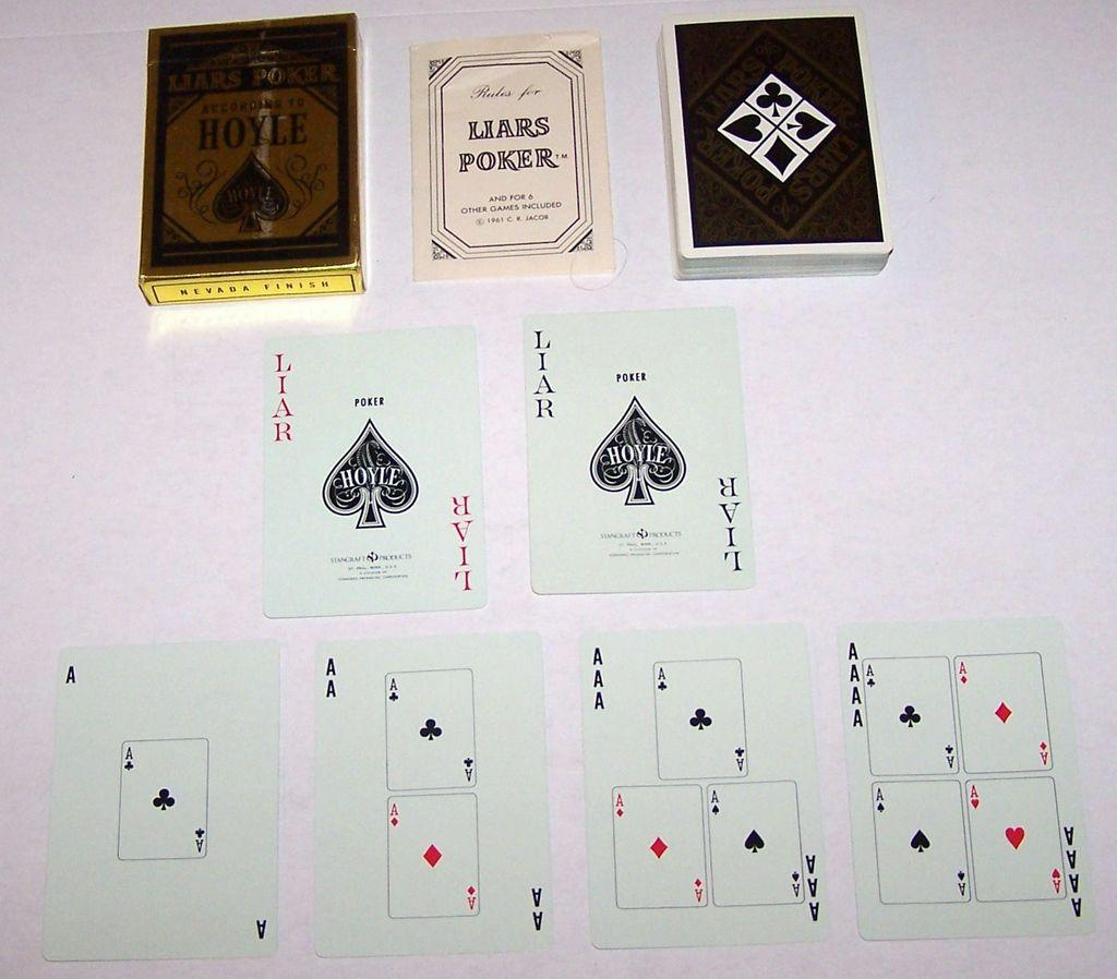 Hoyle (Stancraft) &quot;Liars Poker&quot; Card Game, C.R. Jacob Designs, c.1961
