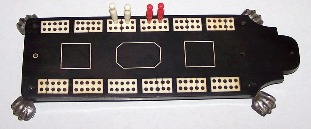 Anglo-Indian (Monghyr) Cribbage Board, c.1860
