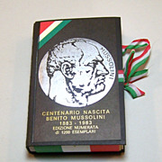 Il Meneghello &quot;Benito Mussolini&quot; Playing Cards, Ltd. Ed. (372/1200), c.1983