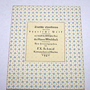 "F.X. Schmid ""Wittelsbach"" Playing Cards, Ltd. Ed. (1605/2000), c.1980 (Reprint of 18"