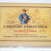 Double Deck Fournier Playing Cards, &quot;Chinese Costumes,&quot; c.1984