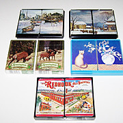 4 Double Decks &quot;Put Together&quot; Playing Cards $15 ea: 1 Hoyle (&quot;Barrymore&quot;);
