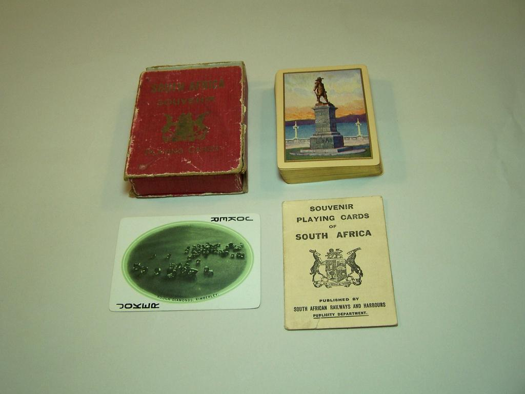 South African Railways and Harbours &quot;Souvenir Playing Cards of South Africa,&quot; c.1905