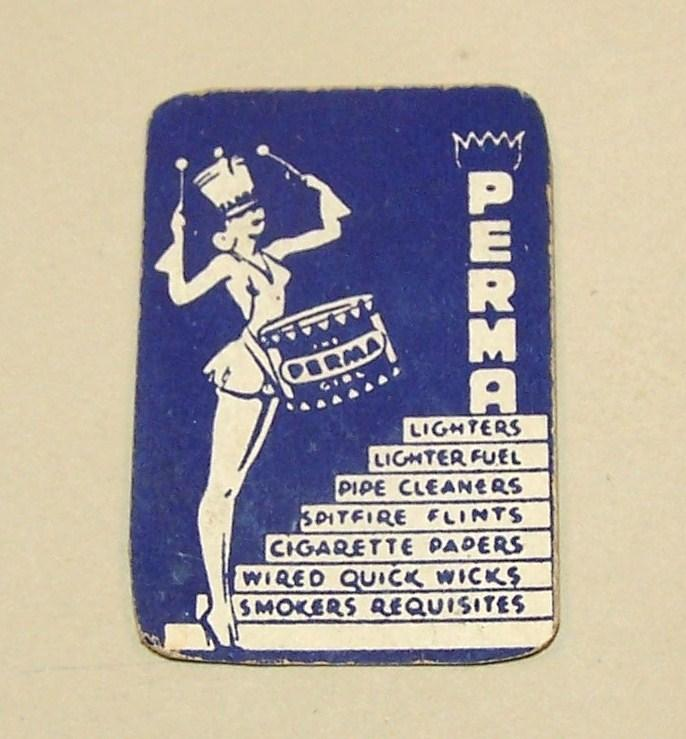 &quot;Perma Girl&quot; Miniature Playing Cards, Maker Unknown, &quot;Perma&quot; Adv. (Tobacciana), c.1930s