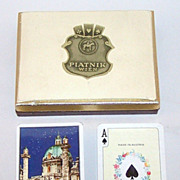 3 Double Decks Piatnik Playing Cards $15 / each: Middle East Vienna, Butterflies