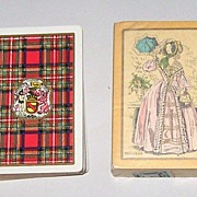 "2 Decks USPC Congress 606 Playing Cards, �Stewart� (Scottish Clan) c.1928, �Melissa� (""Fa"