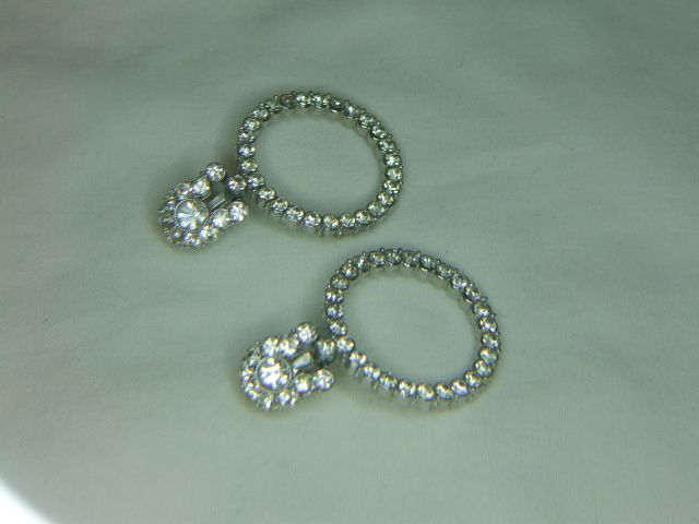 Clear Rhinestone Drop Clip Earrings - Ballou Patented Clips
