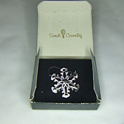 Sarah Coventry Snowfall Pin in Box