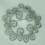 Sarah Coventry Silvery Mist Brooch