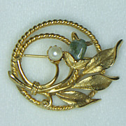 Sarah Coventry Jade Garden Brooch