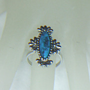 Sarah Coventry Blue Cloud Ring