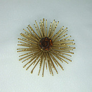 Sarah Coventry Golden Mum Brooch