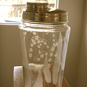 SOLD Vintage Tiffin Lily of the Valley Cocktail Bar Shaker