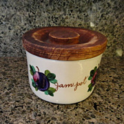 Bauer Jam Pot Fruit Pottery Canister