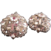 Huge Glittery Rhinestone Earrings